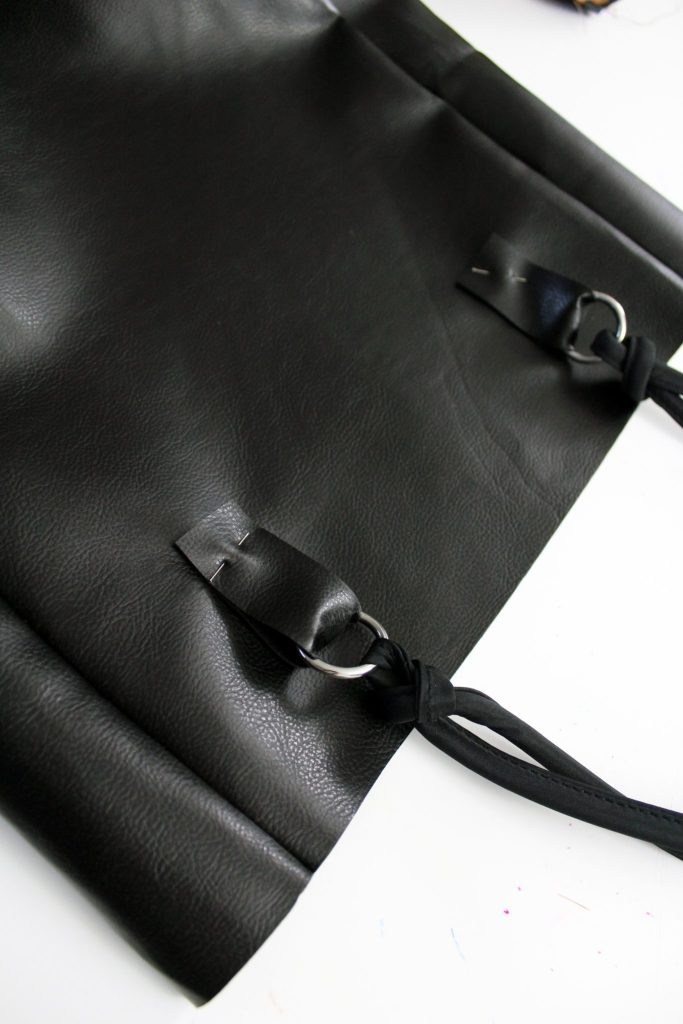 How to make an simple diy leather tote bag