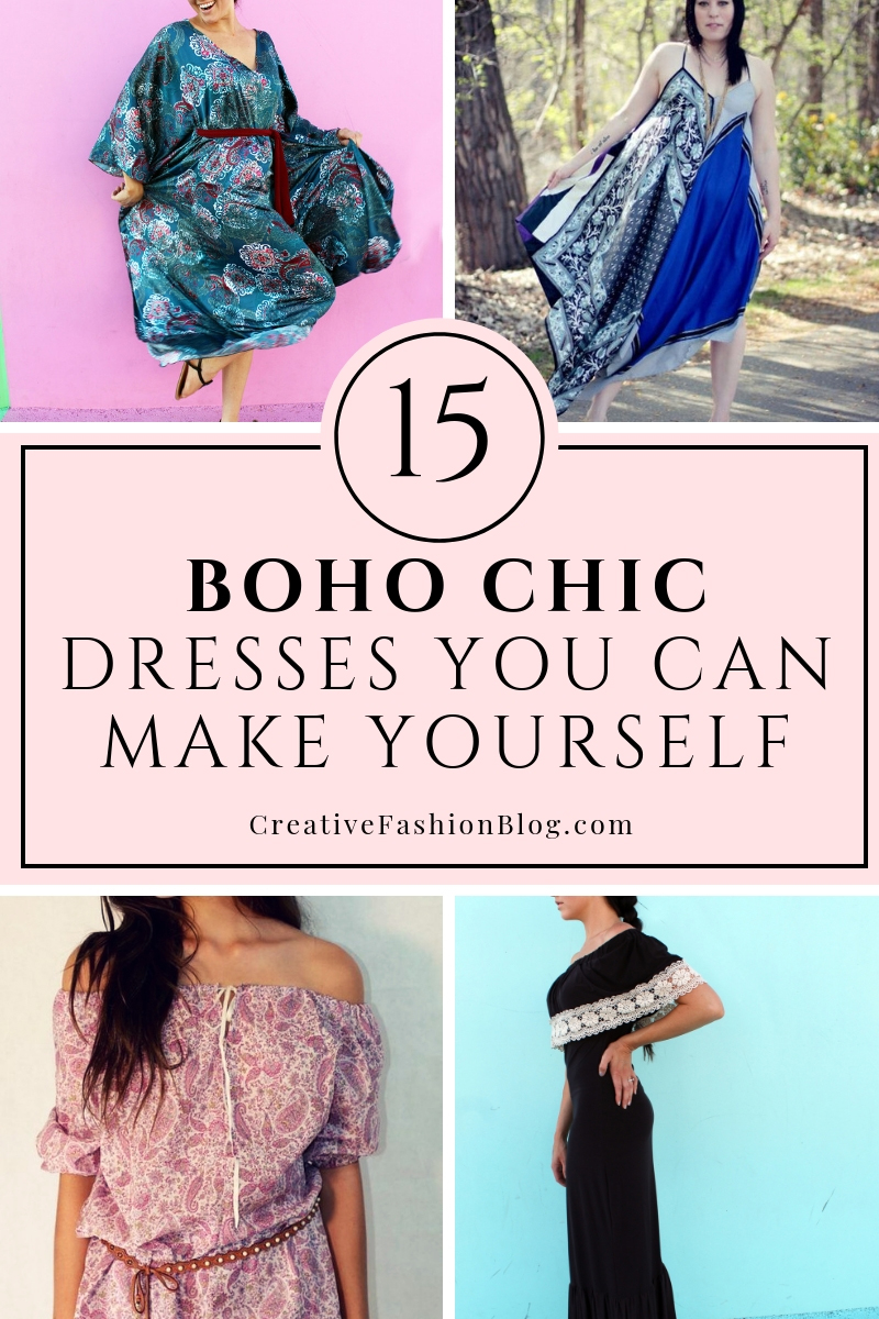 15 Boho Chic Dresses You can make yourself with sewing tutorials