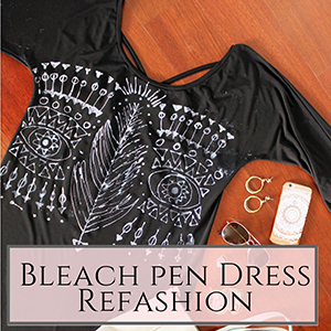 DIY Bleach pen Dress