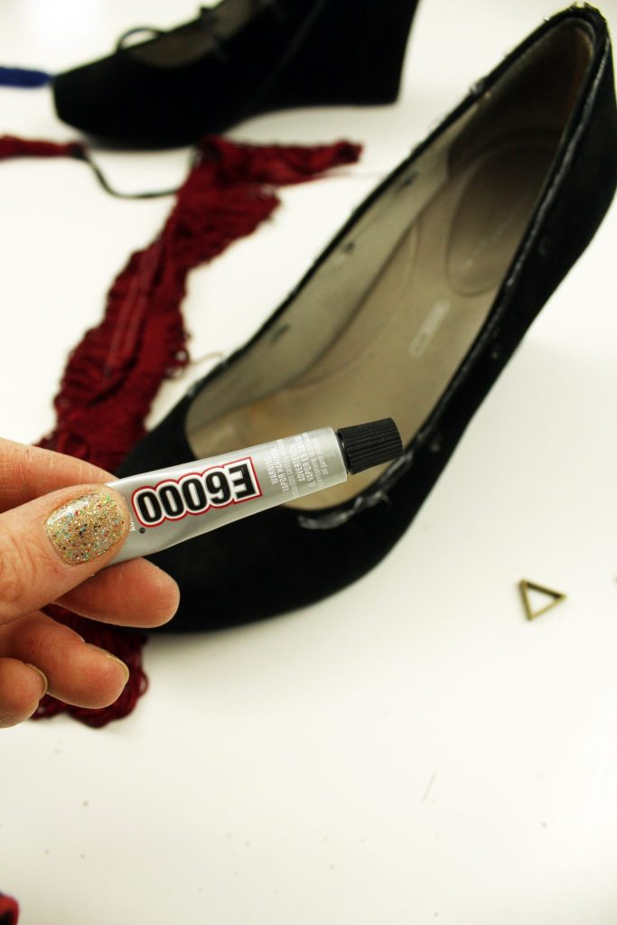 Heel makeover. How to refashion your shoes with E6000 glue