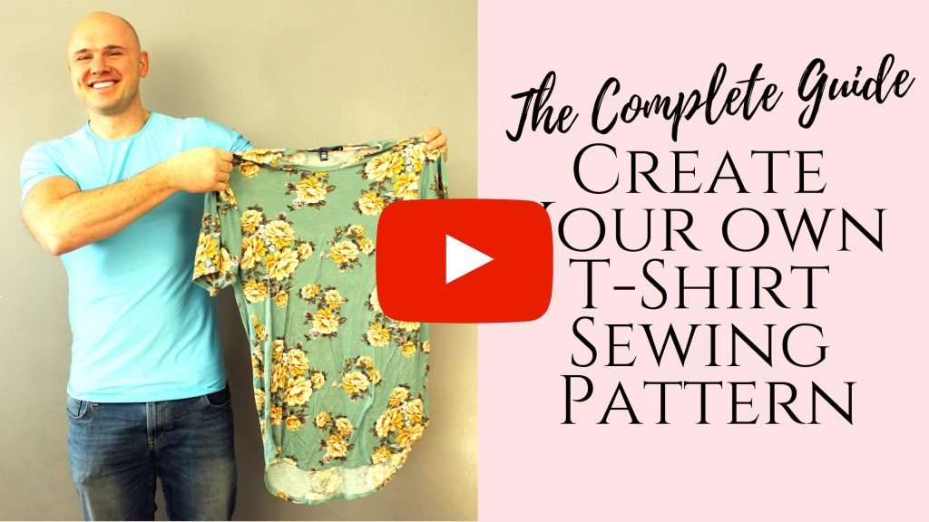 How to copy your old clothes and make a simple tshirt sewing pattern