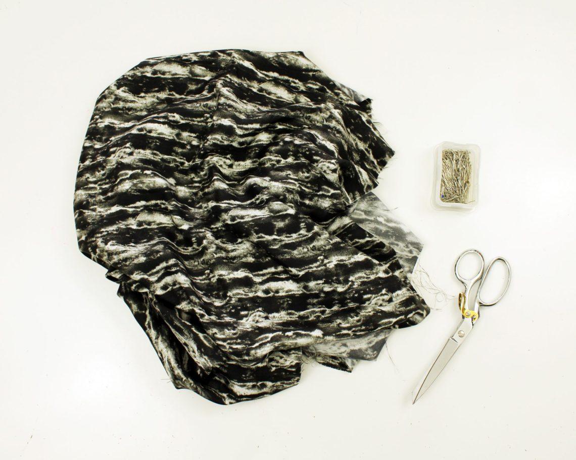 How to make a silk asymmetrical top. new pattern shirt design.