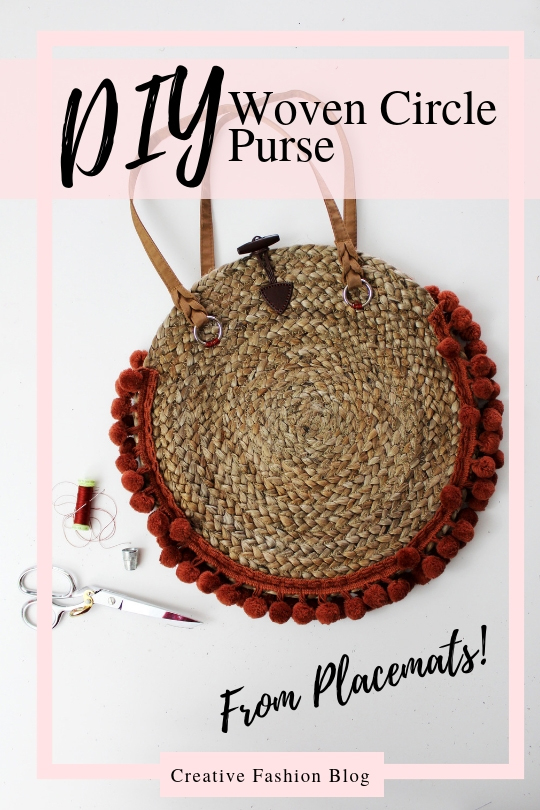 How to make a straw woven purse from a recycled decorative charging plates