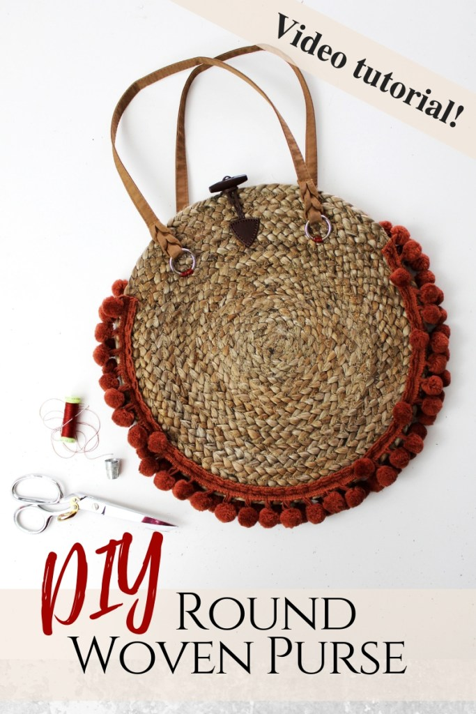 How to make a straw woven purse from a recycled decorative placemats