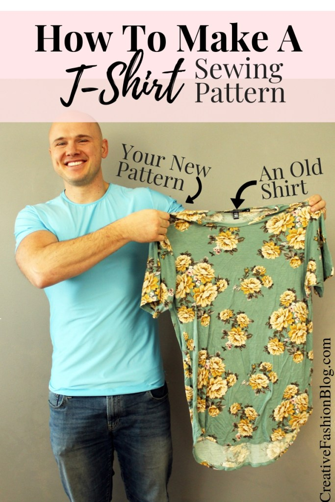 How to copy your old clothes and make a tshirt sewing pattern