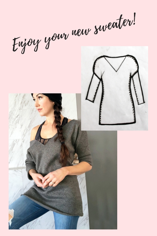 How to make your own DIY sweater easy beginner sewing tutorial printable pdf pg 2