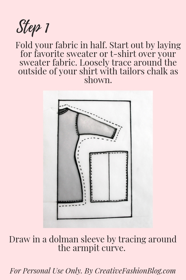 graphic regarding T Shirt Pattern Printable named Simple Do it yourself Sweater Guide - Resourceful Type Blog site