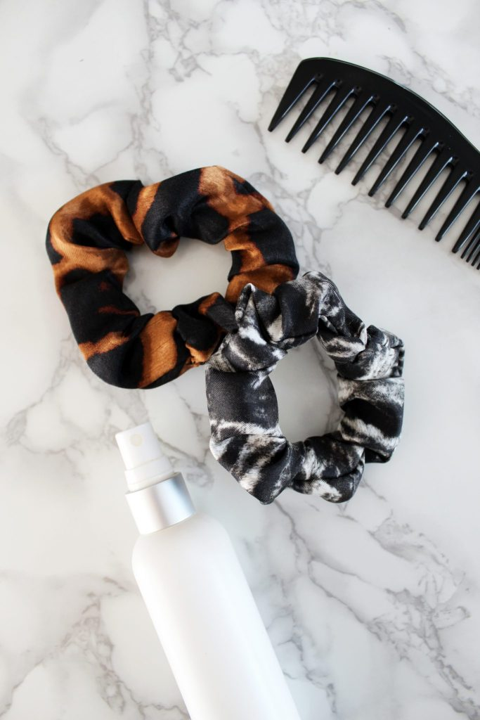 How to make your own silk scrunchie with FREE printable sewing pattern