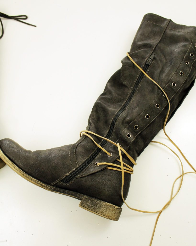 Refashion Your Boots In Just Ten Minutes with Simple Suede Lace