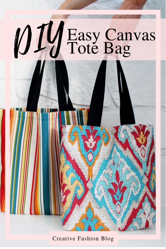 3 DIY tote bag sewing patterns with easy video instructions..