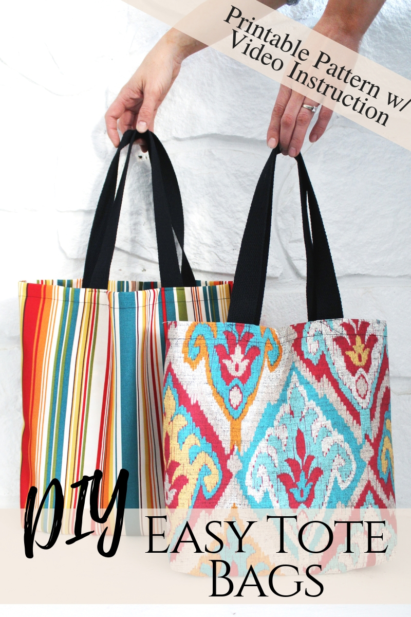 3 DIY tote bag sewing patterns with easy video instructions