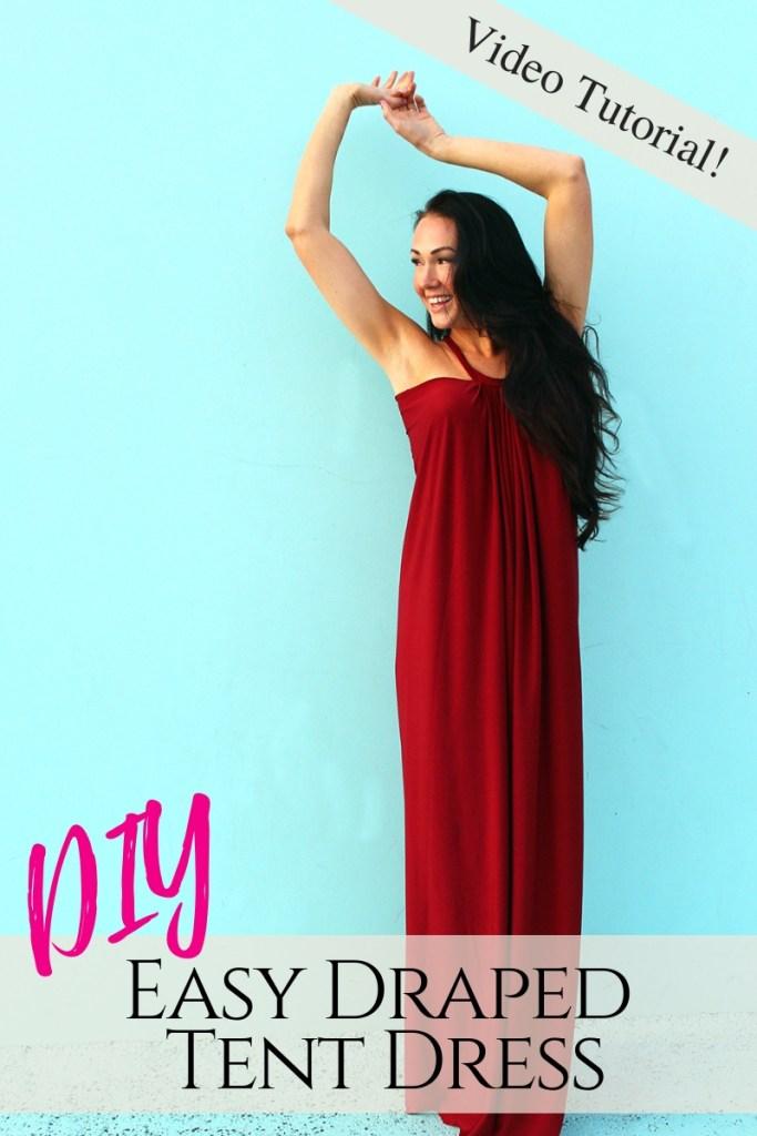 DIY Tent Dress Floor Length Maxi Dress patternmaking tutorial