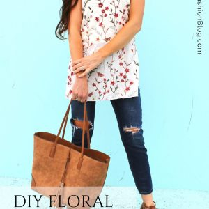 How to sew a blouse. DIY floral tunic dress for summer a sewing project