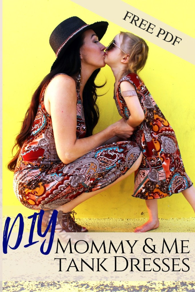 How to make DIY matching mommy and me fashion tee shirt dresses free pdf