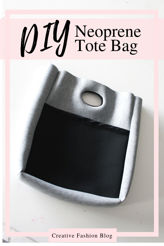 How to make a neoprene tote with beginner sewing pattern