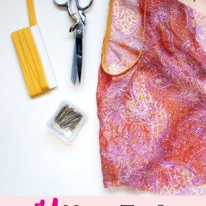 Learn how to sew bias tape