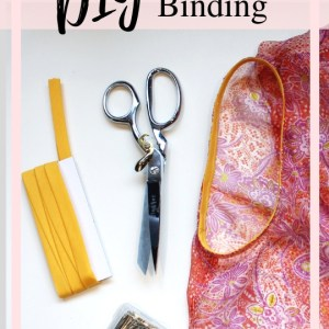 Learn how to sew double fold bias tape