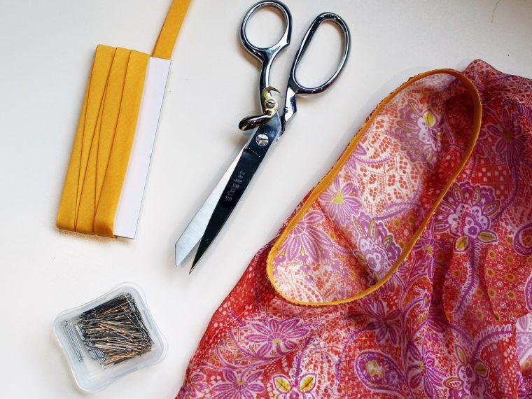 how to sew bias tape tutorial