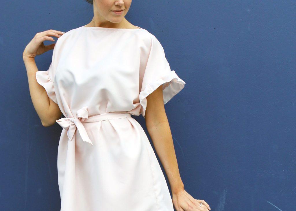Easy Ruffle Sleeve Dress