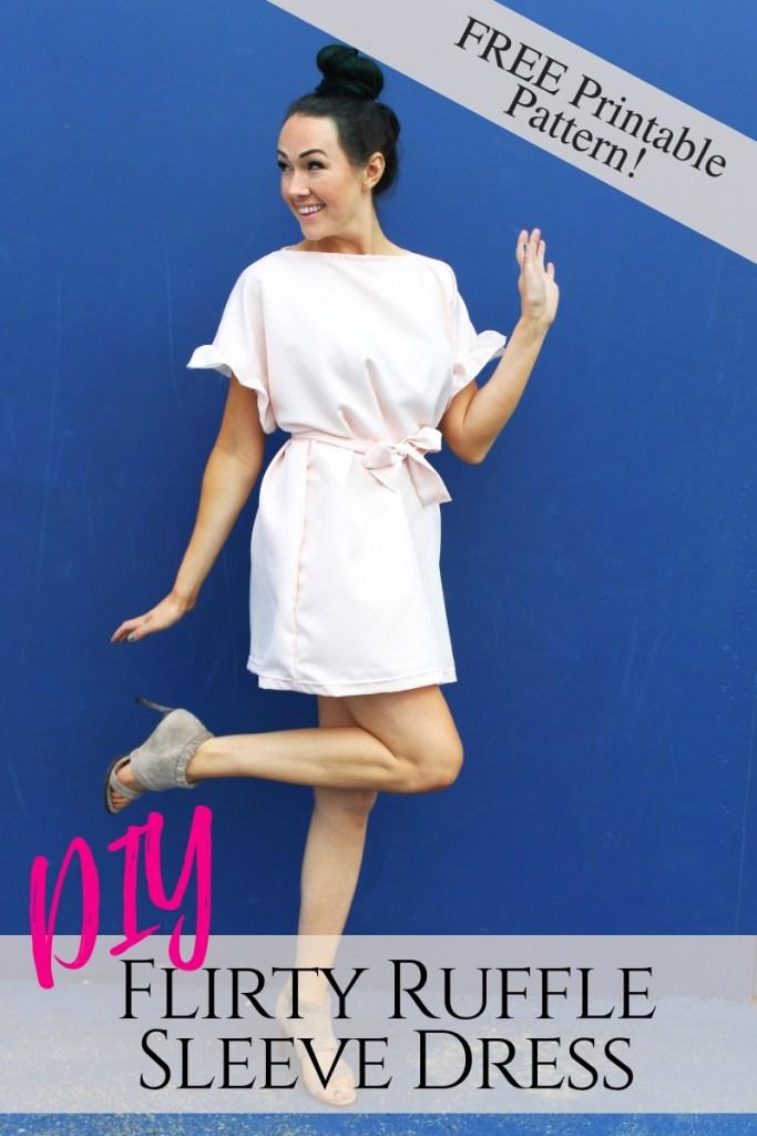 Flirty Ruffle Dress With Free Printable Pattern