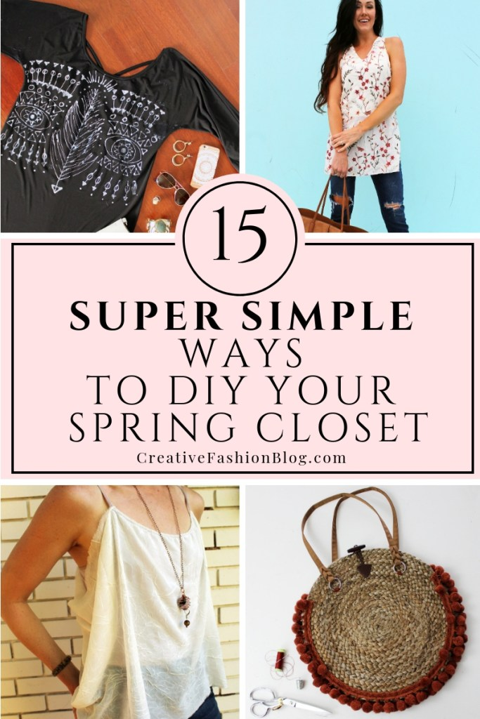 15 Ways to DIY your spring closet. Easy sewing projects for the beginner..
