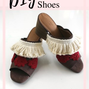 How to add embellishments to your old shoes. A boho refashion tutorial