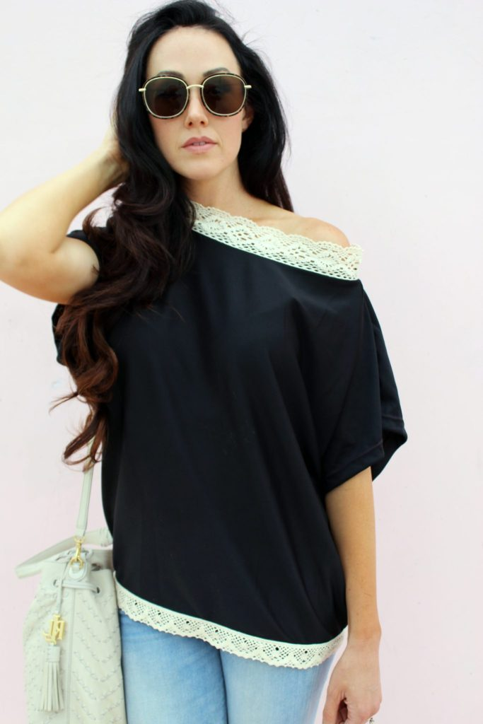 diy refashion shirt tutorials with lace embellishments ..