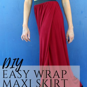 how to sew a diy floor length maxi skirt with slit ....