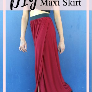 how to sew a diy maxi skirt with slit....