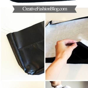 Canvas Leather or Vinyl DIY Messenger Bag with printable Pdf Sewing pattern