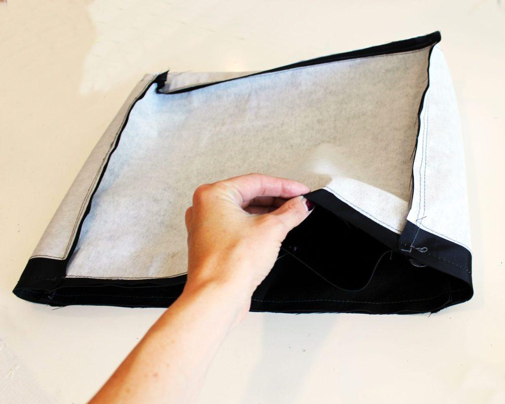 Canvas DIY Messenger Bag instructions 12