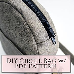 diy circle bag pdf sewing patterns
