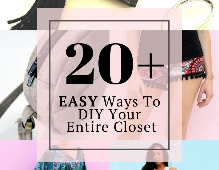 20 easy ways to DIY clothes your entire closet 2
