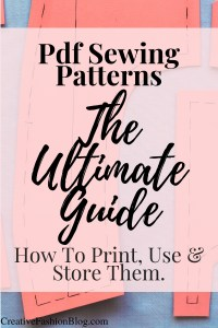 how to store and organize pdf sewing patterns..