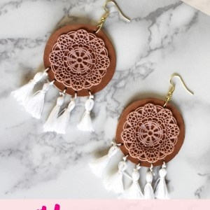 Liquid Sculpey DIY Boho Earring Jewelry Tutorial with tassels
