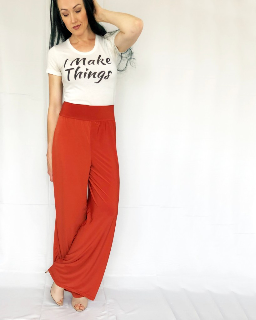 how to sew wide leg pants pattern