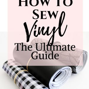 how to sew vinyl.. vinyl sewing tips and tricks