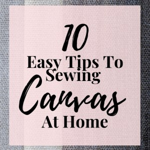 how to sew canvas fabric