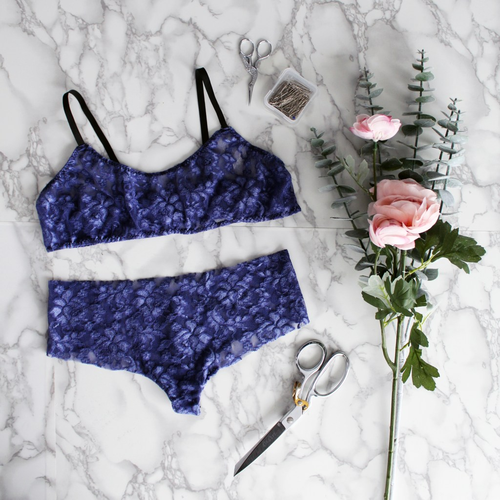 matching diy lingerie set with bralette and seamless panty