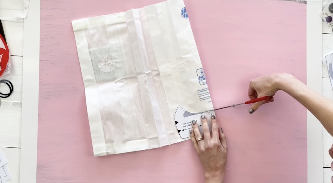 how to cut a vacuum bag to make filters