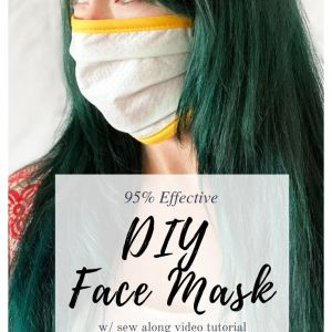 diy dust mask with printable template
