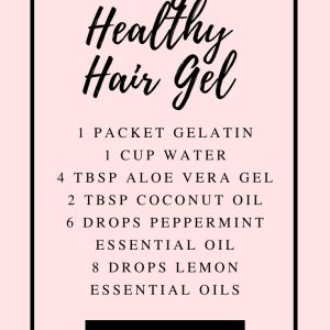diy healthy hair gel