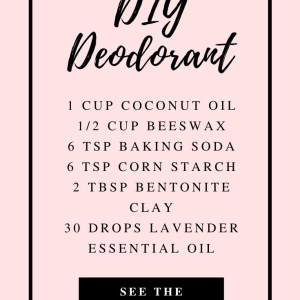 easy diy deodorant recipe