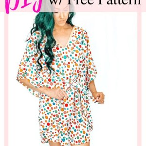 how to make a summer caftan dress