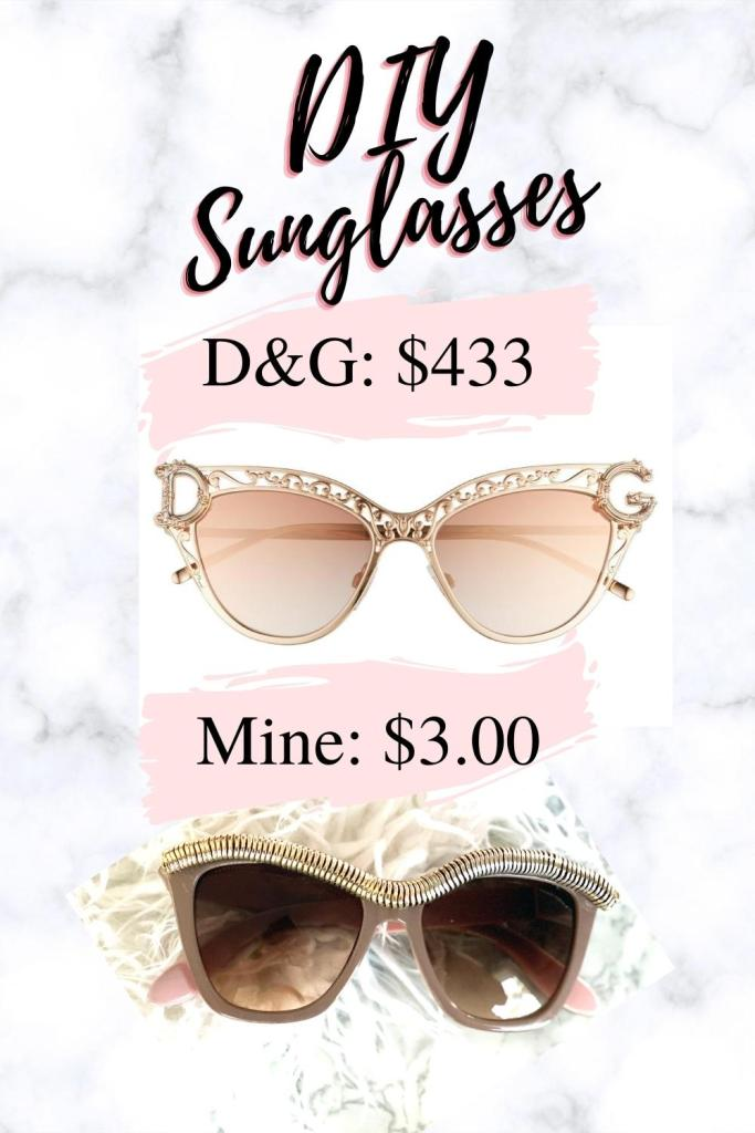 Dolce and Gabana DIY sunglasses