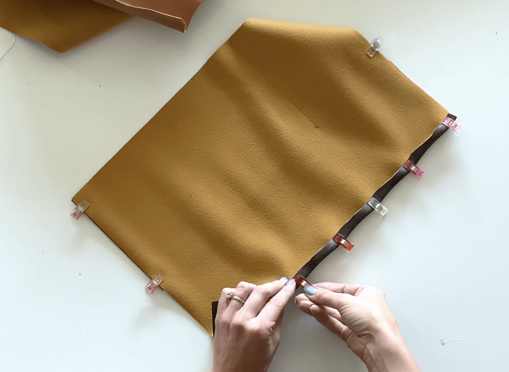 step 14 leather laptop pouch tutorial