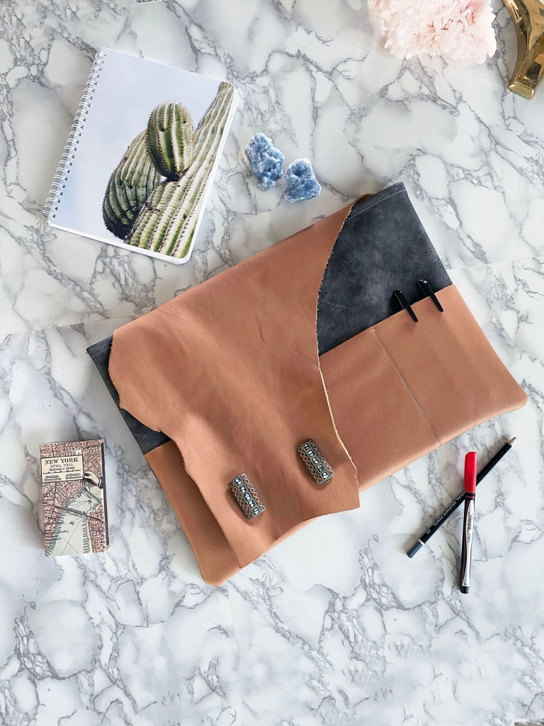 how to make a leather laptop pouch with pattern