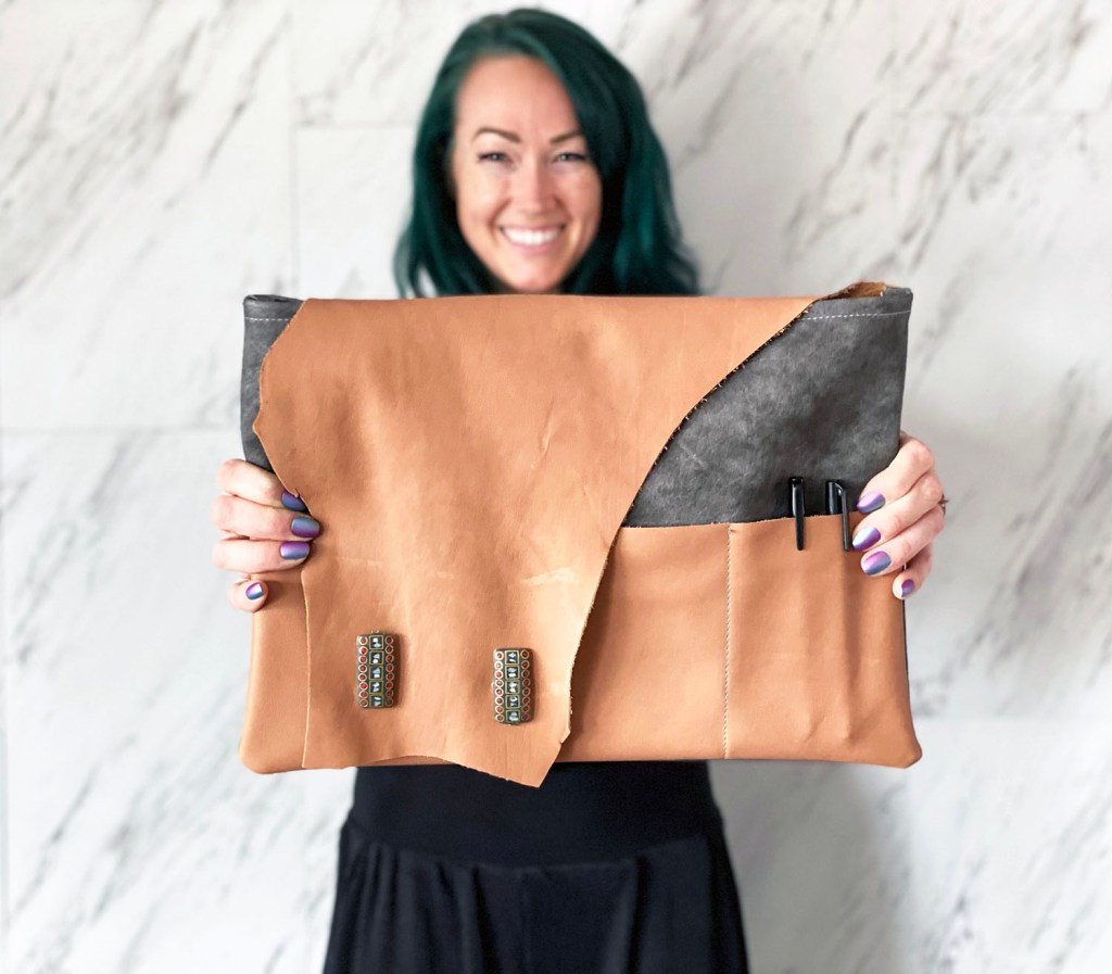 how to make a leather laptop pouch w sew along video