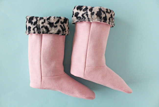 DIY slipper boots and other Christmas Sewing Projects