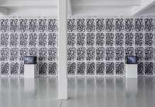 Installation view, Robin Rhode: Primitives, Galleria Tucci Russo, Torino